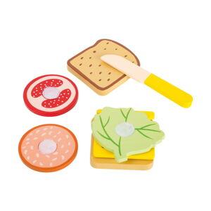 Set dětských dřevěných hraček na výrobu sendviče Legler Snacktime