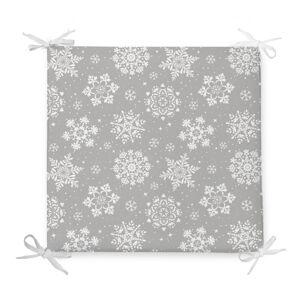 Vánoční podsedák s příměsí bavlny Minimalist Cushion Covers Flakes,42x42cm