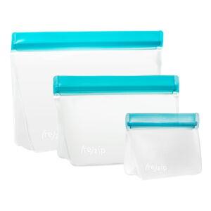 Sada 3 modrých svačinových sáčků (re)zip Essential