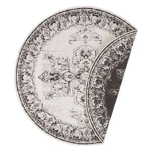Černo-krémový venkovní koberec Bougari Borbon, ø 200 cm