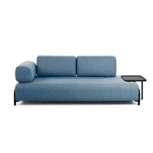 Modrá pohovka s odkládacím prostorem La Forma Compo