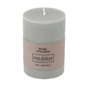 Tyrkysově modrá svíčka Eco candles by Ego dekor Friendly, doba hoření 37h