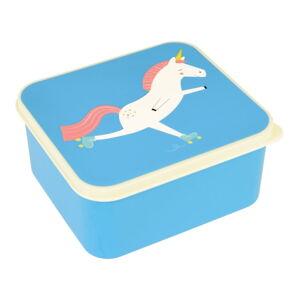 Modrý svačinový box s jednorožcem Rex London Magical Unicorn