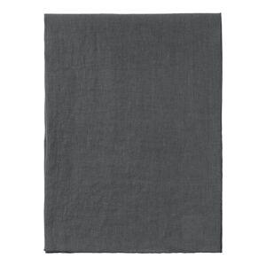 Tmavě šedý lněný běhoun na stůl Blomus, 140x45cm