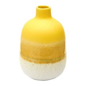 Žluto-bílá váza Sass & Belle Bohemian Home Mojave