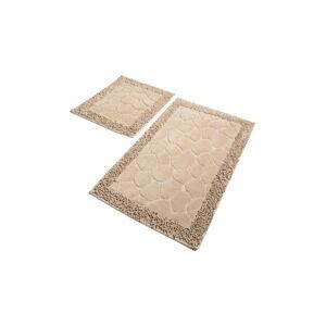 Sada 2 béžových koupelnových předložek Chilai Stone Beige