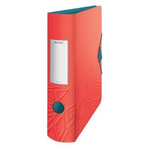 Červený mobilní pořadač Leitz, šířka 82 mm