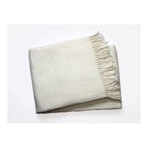 Krémový pléd s podílem bavlny Euromant Waffle, 140x180cm