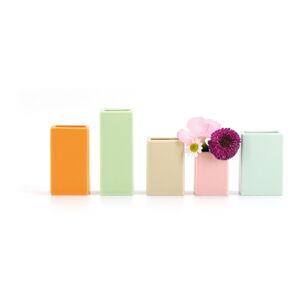 Sada 5 drobných porcelánových váz Remember Mini