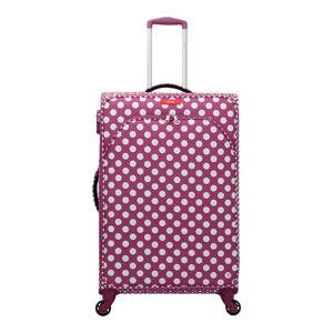 Fialovorůžové zavazadlo na 4 kolečkách Lollipops Jenny, výška 77cm