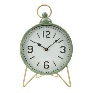 Zelené stolní hodiny s detaily ve zlaté barvě Mauro Ferretti Glam