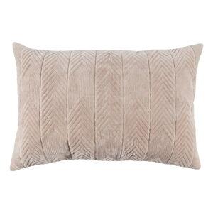 Béžový dekorativní polštář WOOOD Fallon Biscuit, 40 x 60 cm